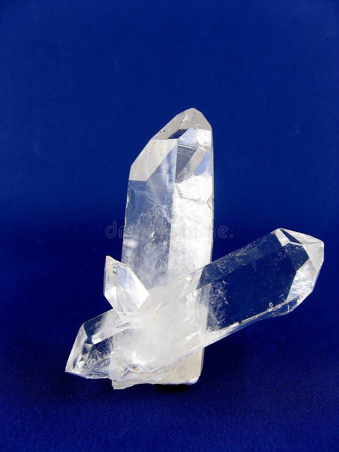Het Kristal van de Rots van de variëteiten van het kwarts stock foto