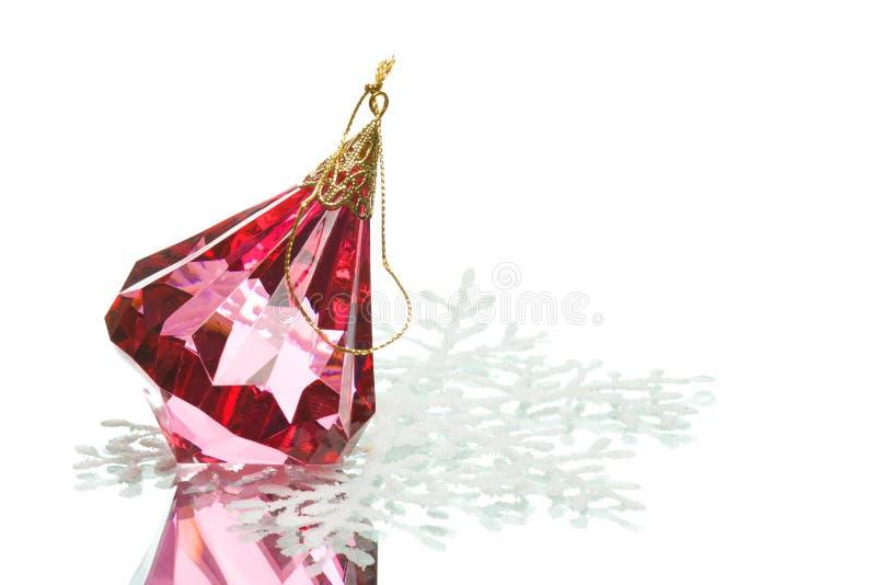 Het kristal van het de decoratieglas van Kerstmis royalty-vrije stock fotografie