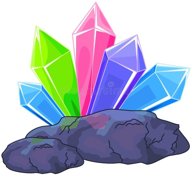 Het Kristal van het kwarts stock illustratie