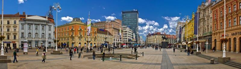 Het Kroatische Hoofd hoofdvierkant van Zagreb stock afbeelding