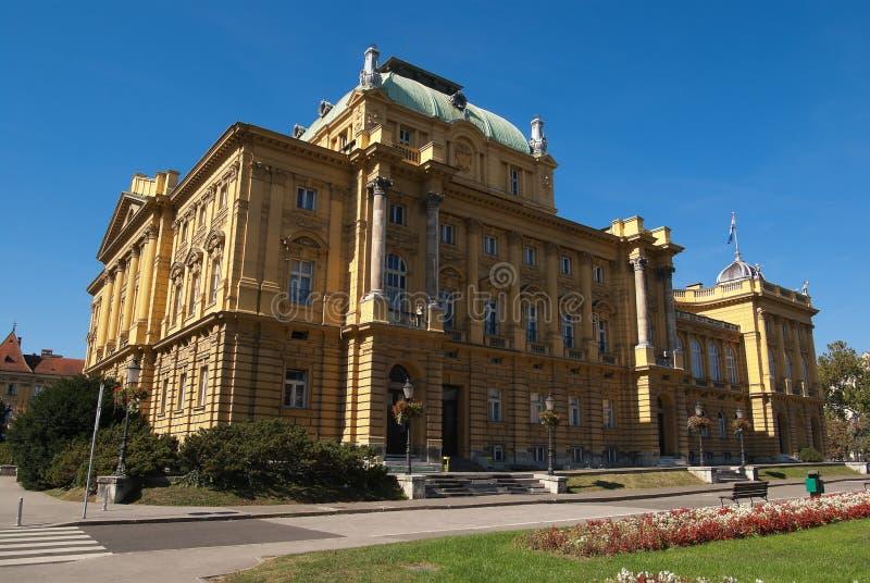 Het Kroatische Nationale Theater royalty-vrije stock foto