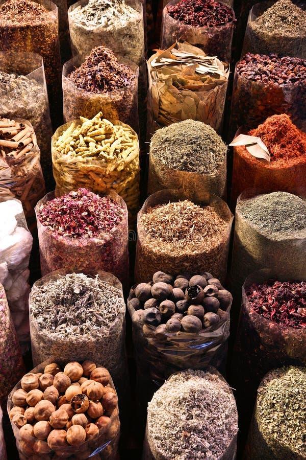 Het Kruidmarkt van Doubai stock foto