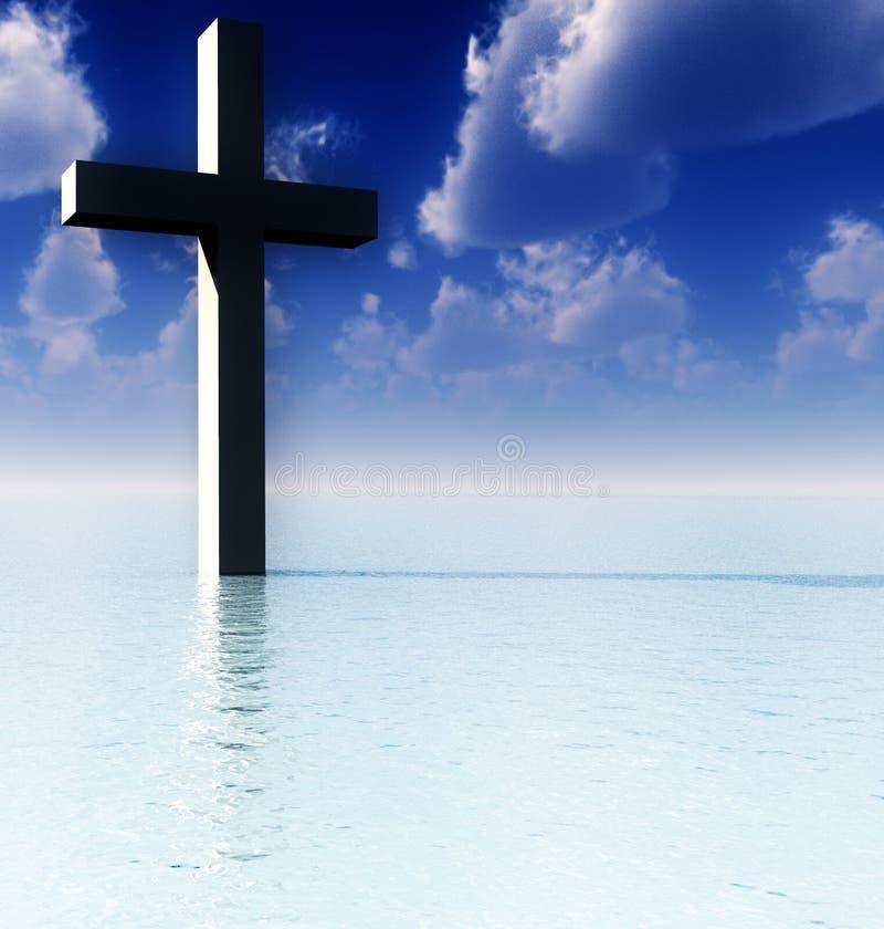 Het kruis in DagWater 6 vector illustratie