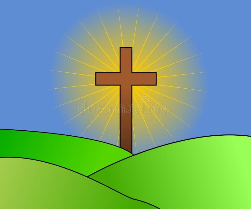 Het kruis met glanst stock foto's
