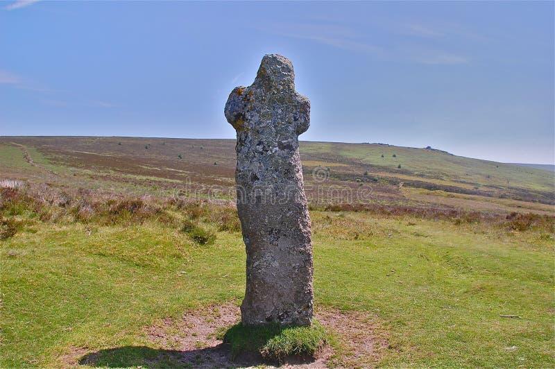 Het Kruis van Bennett op Dartmoor legt vast stock afbeeldingen