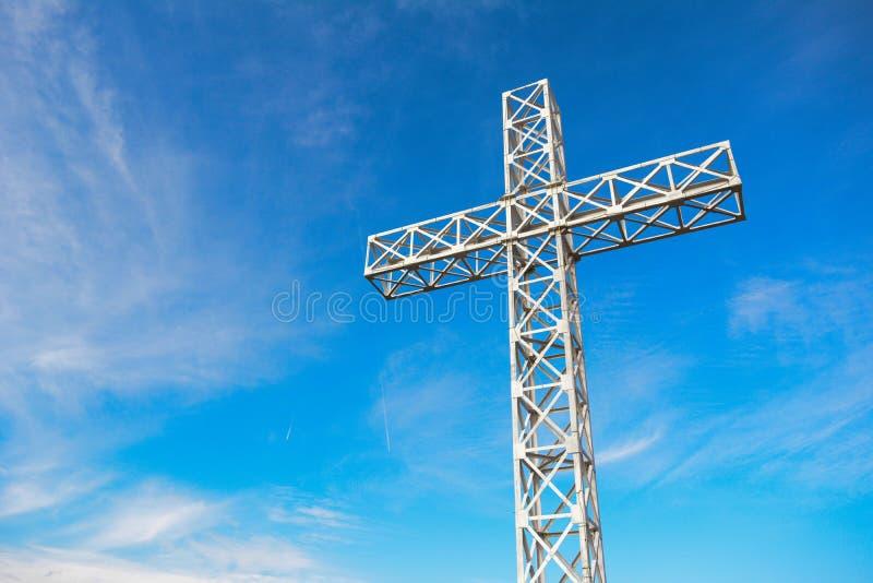 Het kruis van Caraiman stock foto's