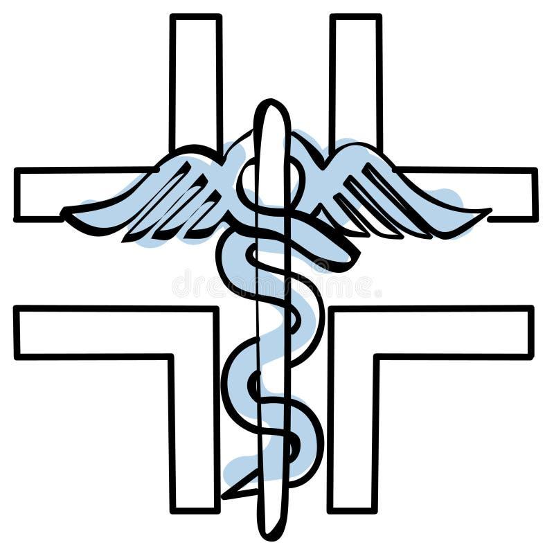 Het kruis van de apotheek stock illustratie