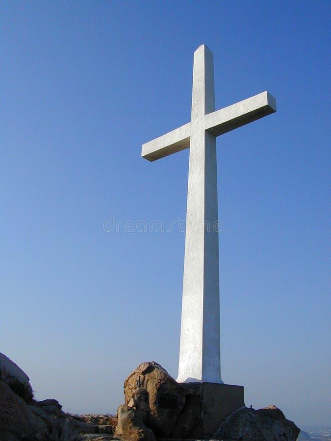 Het Kruis van de heuveltop royalty-vrije stock foto