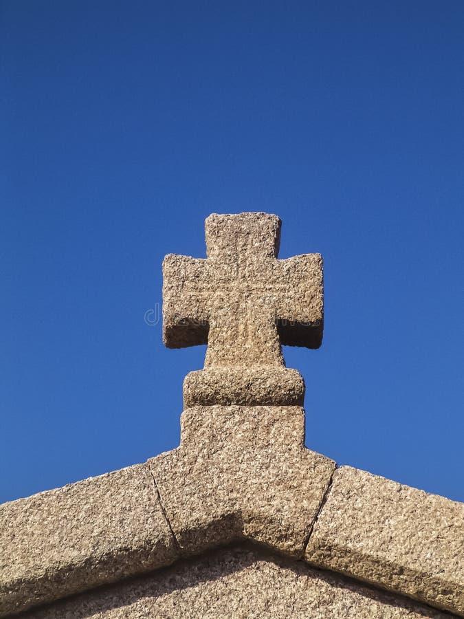 Het kruis van de steen royalty-vrije stock foto