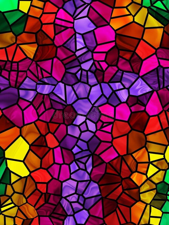Het Kruis van het gebrandschilderd glas royalty-vrije illustratie
