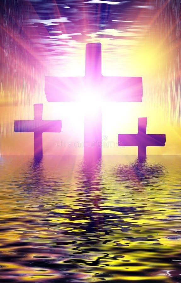 Het Kruis van het wijwater stock foto's