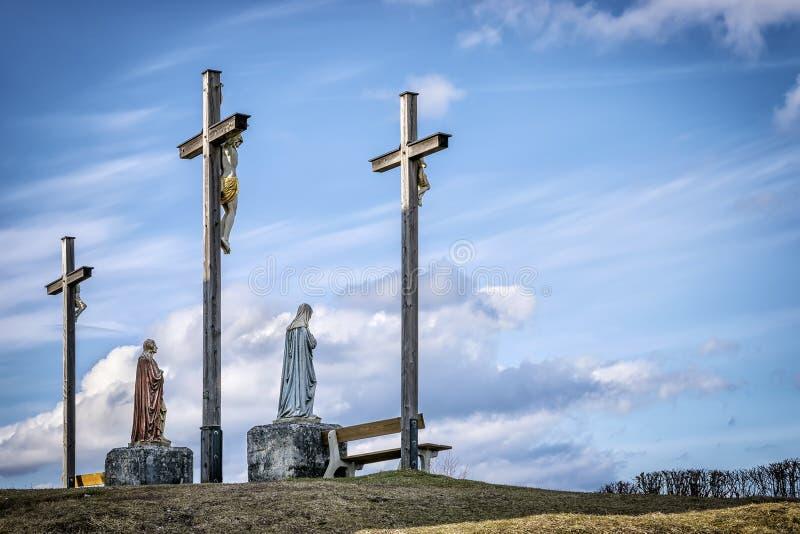 Het kruis van Jesus in Beieren royalty-vrije stock afbeelding