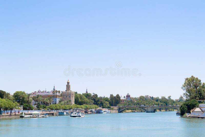 Het kruisen van de Guadalquivir stock afbeelding