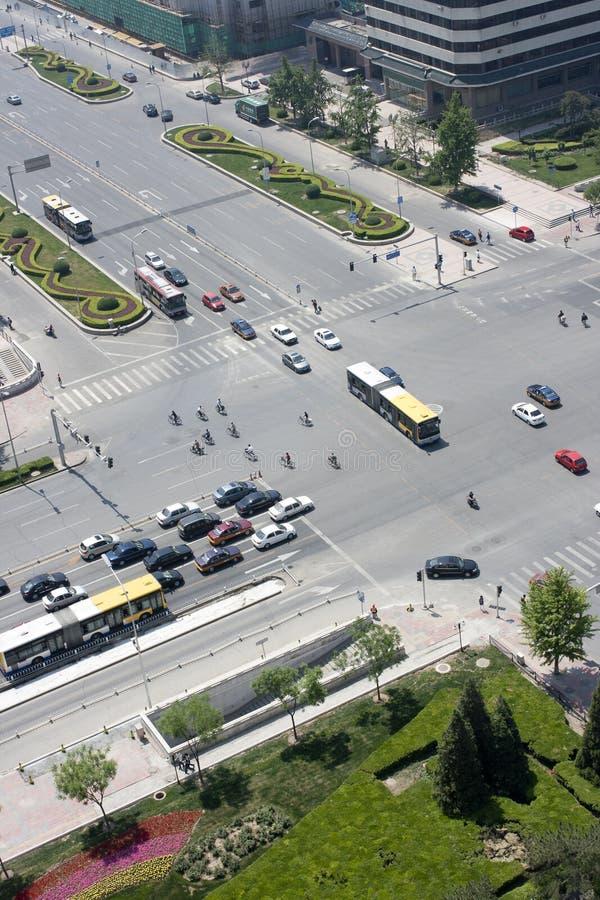 Het kruispunt van de stad stock fotografie