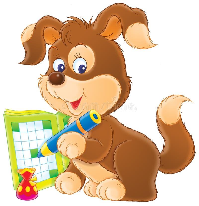 Het kruiswoordraadsel van het puppy vector illustratie