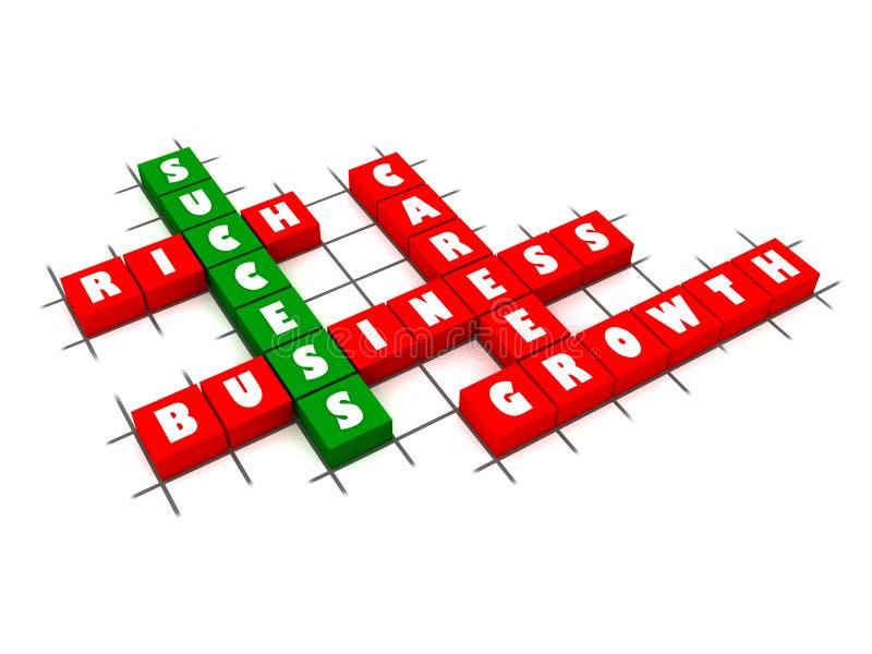 Het Kruiswoordraadsel van het succes stock illustratie