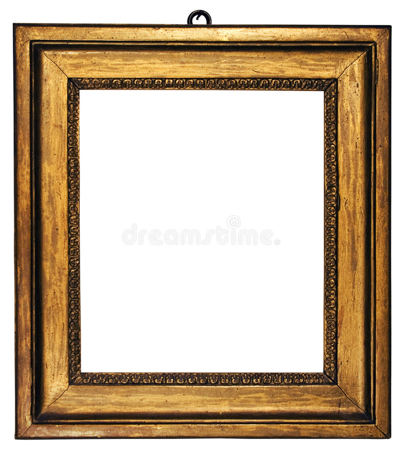 Het Kubieke Goud van de omlijsting (Inbegrepen Weg) stock afbeelding