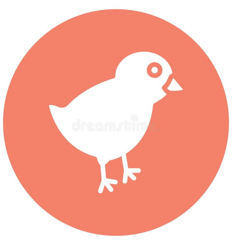Het kuiken, kip isoleerde Vectorpictogram dat zich gemakkelijk kan wijzigen of uitgeven royalty-vrije illustratie