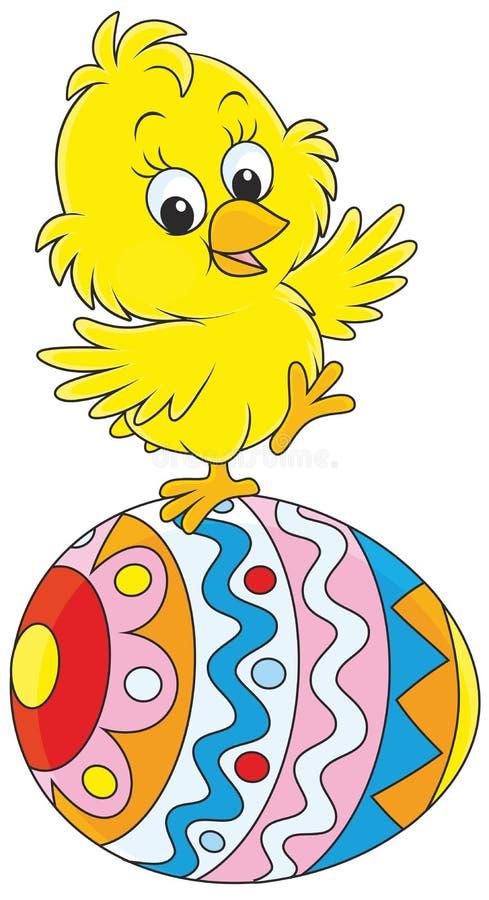 Het kuiken van Pasen stock illustratie
