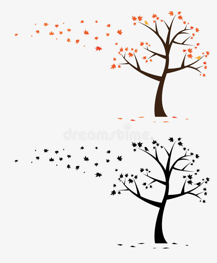 Het kunstwerk van het Overdrukplaatje van de boom royalty-vrije illustratie