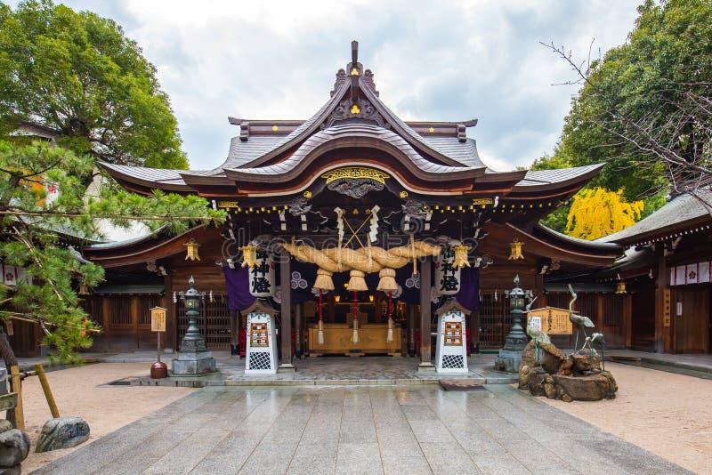 Het Kushidaheiligdom wordt gevestigd in Hakata, Fukuoka, Japan stock fotografie