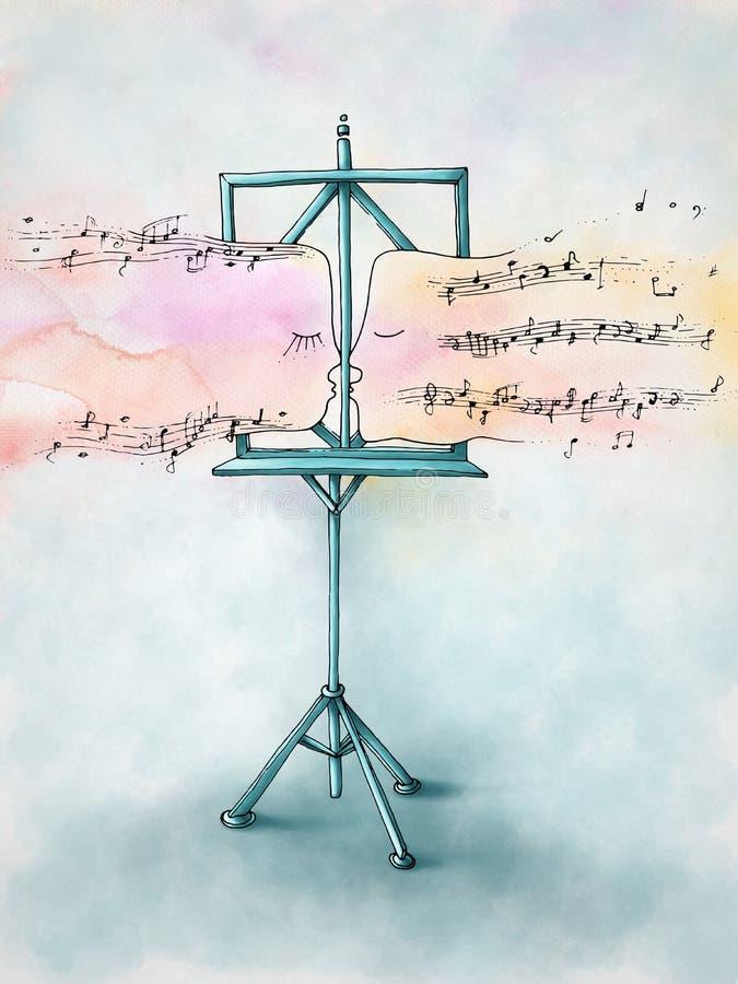 Het kussen scores - blauwe sfeer stock afbeelding