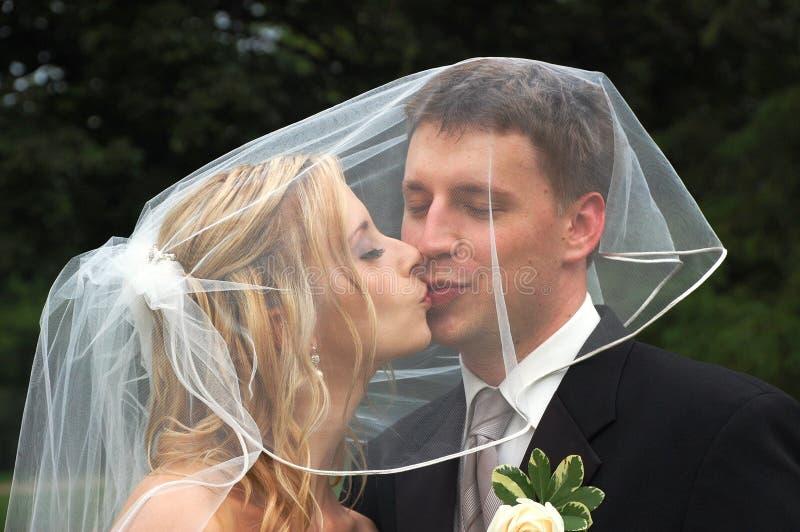 Het Kussen van het Paar van het huwelijk royalty-vrije stock foto