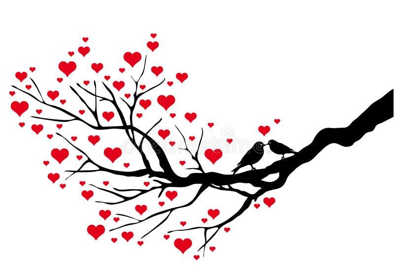 Het kussen vogels stock illustratie