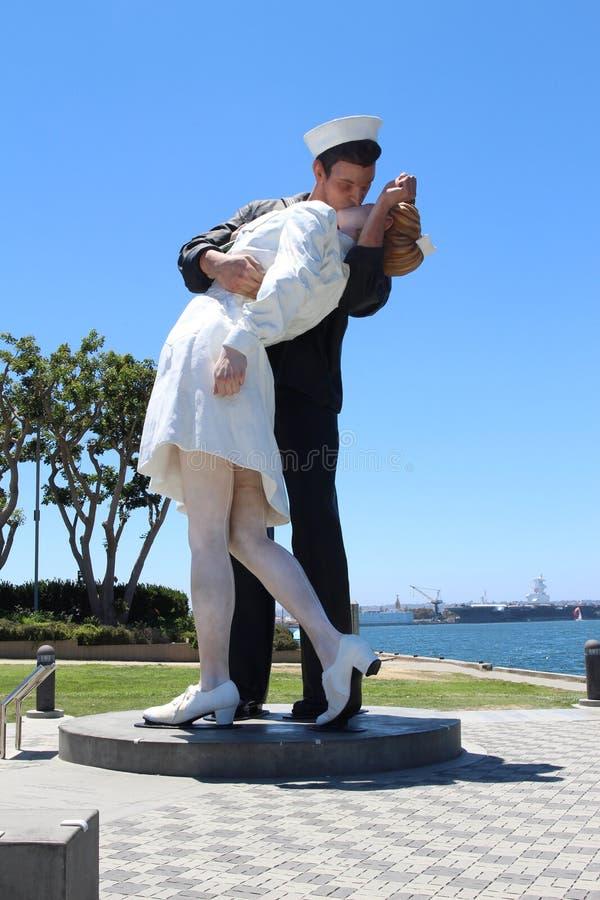 Het kusstandbeeld royalty-vrije stock afbeelding