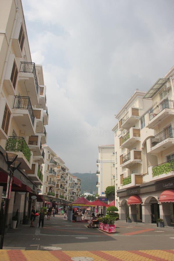 Het kust het winkelen paradijs - afzet in SHENZHEN, CHINA, AZIË royalty-vrije stock fotografie