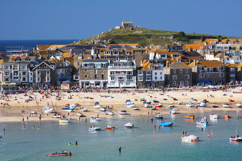 Het kustdorp van St. Ives in Cornwall royalty-vrije stock afbeeldingen