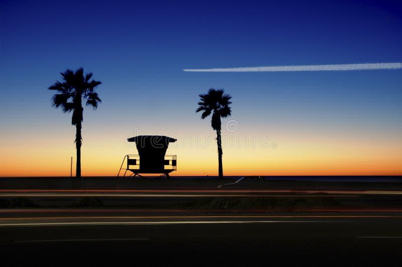 Het kustlandschap van Californië. royalty-vrije stock afbeelding