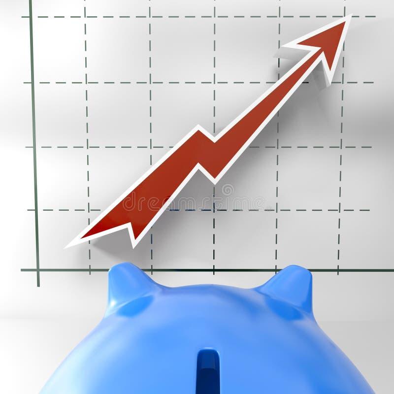 Het kweken van Grafiek toont Bedrijfssucces stock illustratie