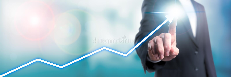 Het kweken van uw zaken stock foto