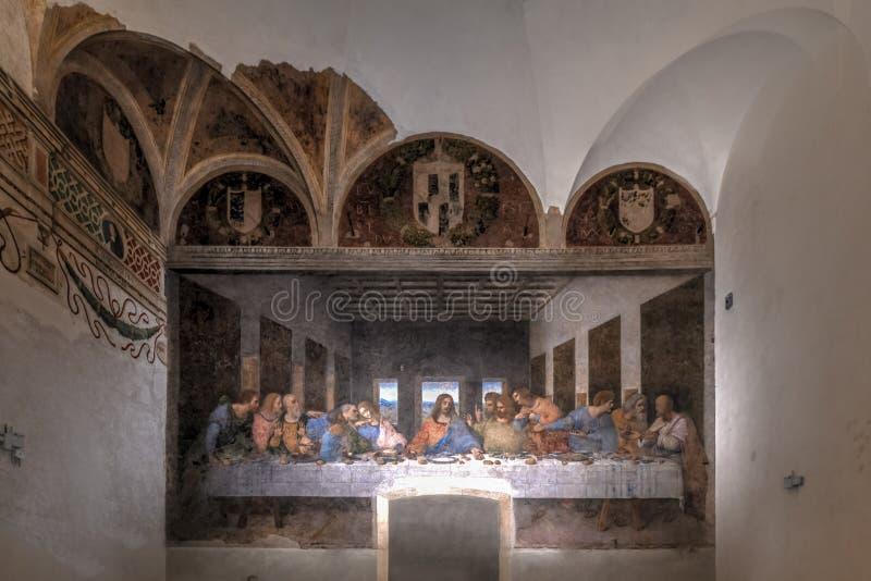 Het Laatste Avondmaal - Milaan, Italië stock foto