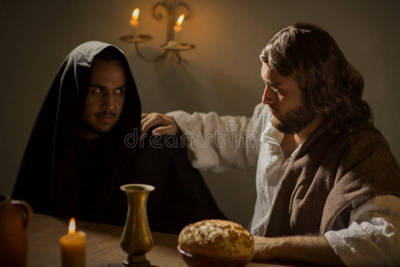 Het Laatste Avondmaal van Jesus Christ stock afbeeldingen