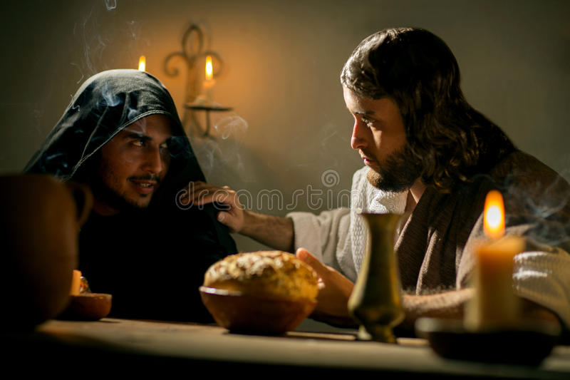 Het Laatste Avondmaal van Jesus Christ stock foto's