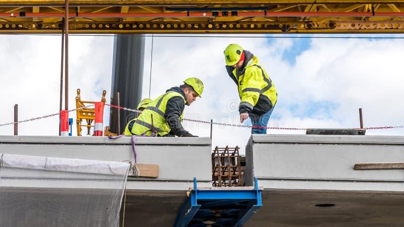 Het laatste beetje op de brug, de brug van KroonprinsesMary in Frederikssund, Denemarken royalty-vrije stock fotografie