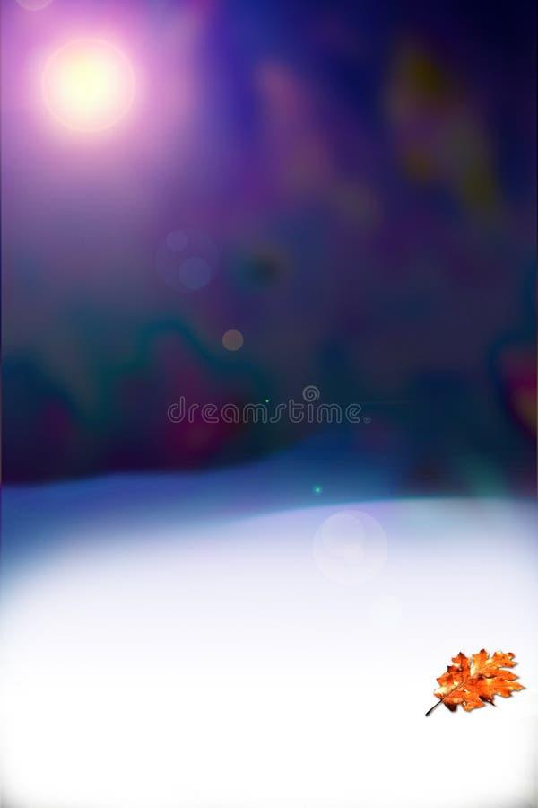 Download Het laatste blad stock illustratie. Illustratie bestaande uit sneeuwvlokken - 277395