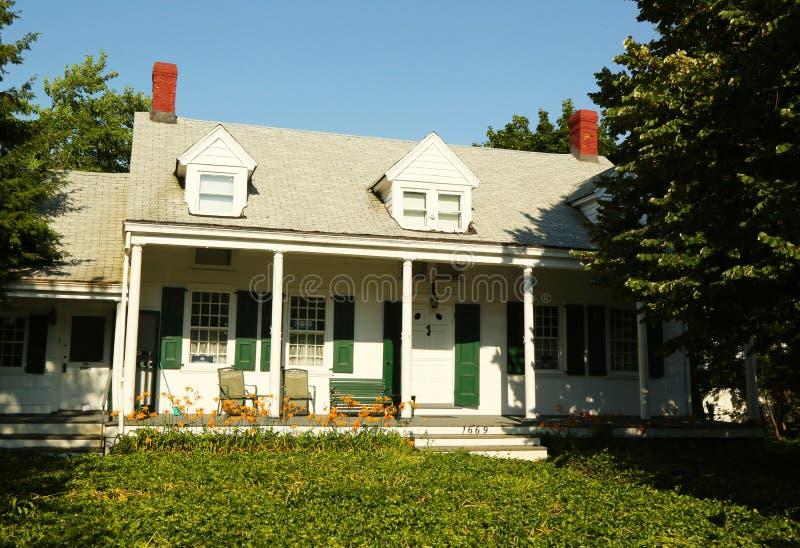 Het laatste privé- Nederlandse koloniale huis van 1700 s in NYC in Brooklyn, New York royalty-vrije stock foto
