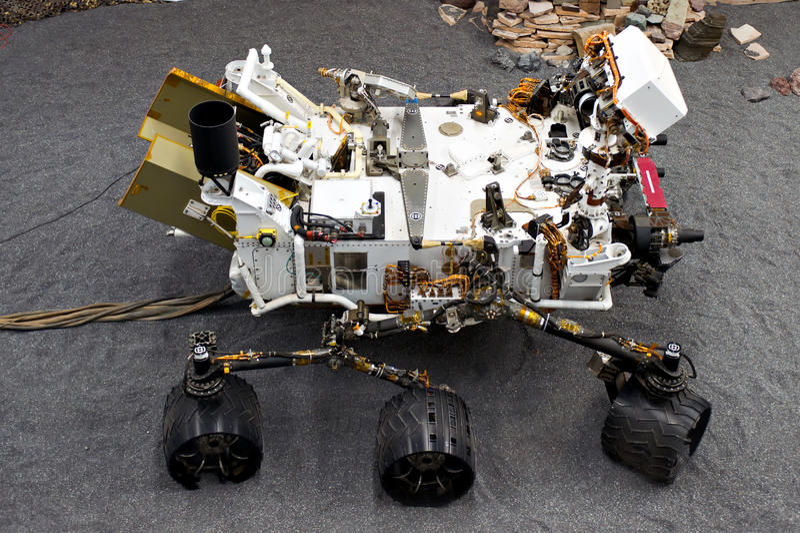 Het Laboratorium van de Wetenschap van Mars, genoemd Nieuwsgierigheid stock foto