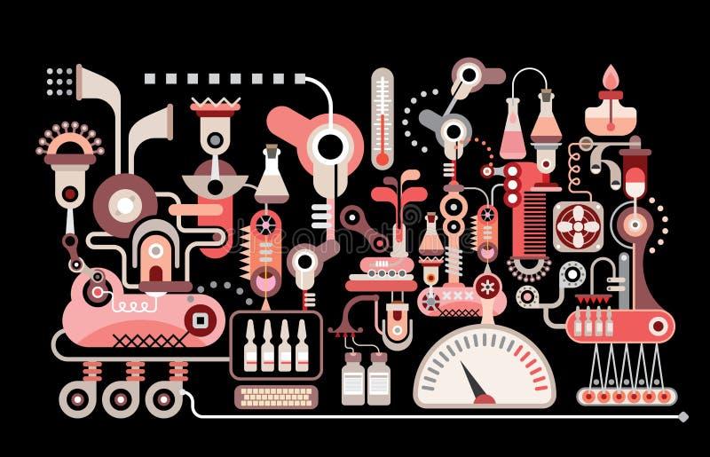 Het Laboratorium van het onderzoek vector illustratie