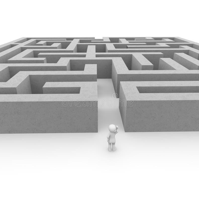Het labyrint vector illustratie