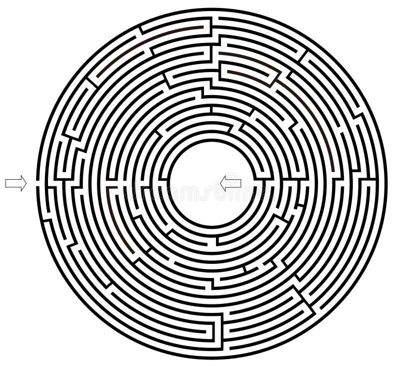 Het labyrint van de cirkel royalty-vrije illustratie