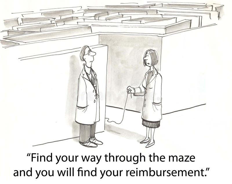Het labyrint van de gezondheid royalty-vrije illustratie