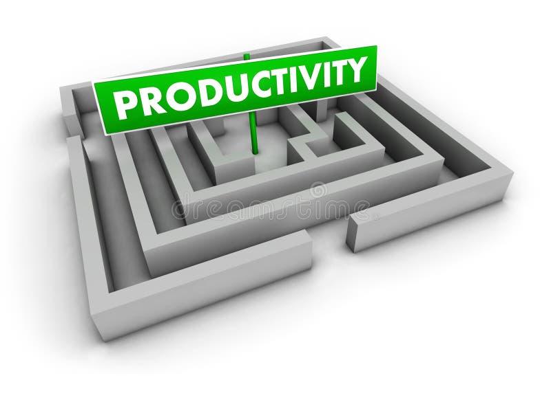 Het Labyrint van de productiviteit vector illustratie