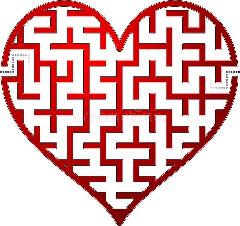 Het labyrint van het hart stock illustratie