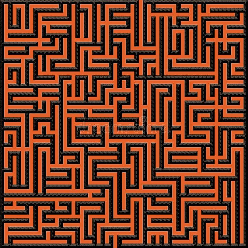 Het labyrint van ijzergrenzen royalty-vrije stock afbeelding