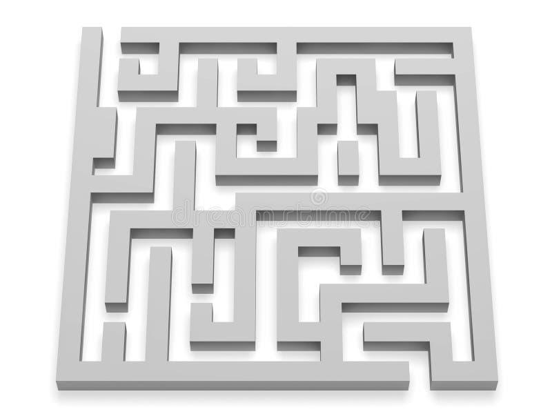 Het labyrint van het labyrintraadsel het 3d teruggeven royalty-vrije illustratie