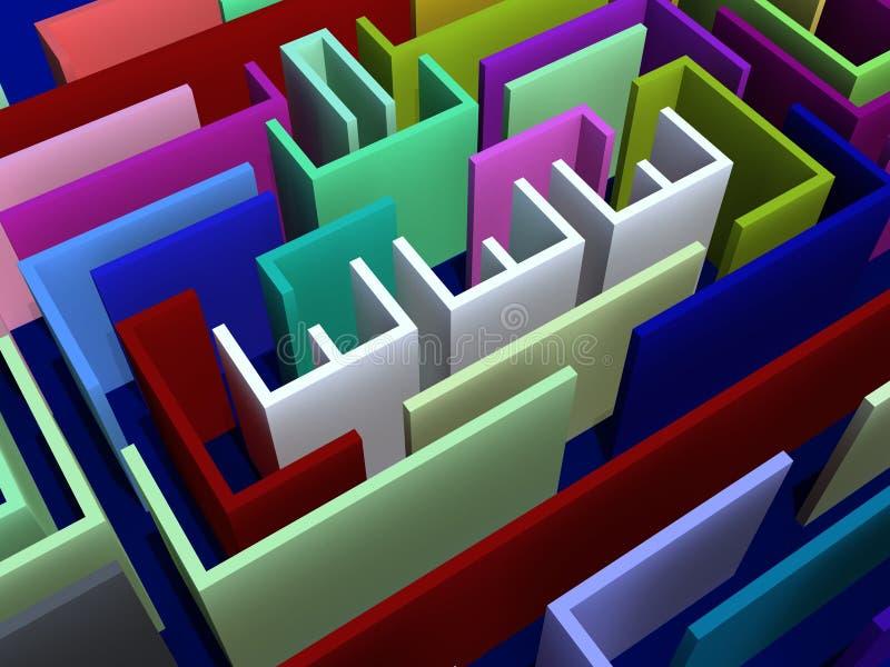 Het labyrintconcept van Www royalty-vrije illustratie